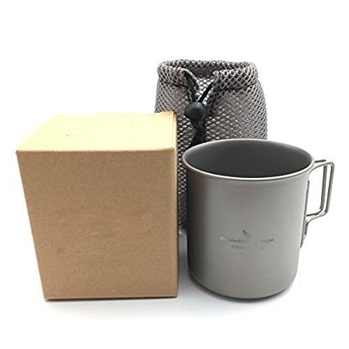 Igo Online Shop 420ml Titanium Cup Outdoor Mug Camping Water Cup by Igo Online Shop