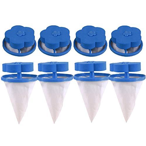 Washing Machine Lint Filter Bag,Mesh Bag Hair Filter Net,Reusable Washing Machine Filter(D) by MONISE (Image #4)