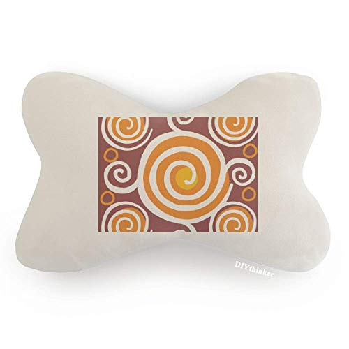 Volume Mexico Totems Ancient Civilization Drawing Car Neck Pillow Headrest Support Cushion Pad by DIYthinker