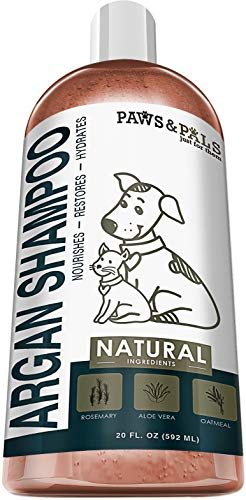 Dog Argan Shampoo-Conditioner - 20oz Clinical Vet Formula Wash for All Pets Puppy & Cats - Made with Aloe Vera for Relieving Dry Itchy Skin (Argan Shampoo)
