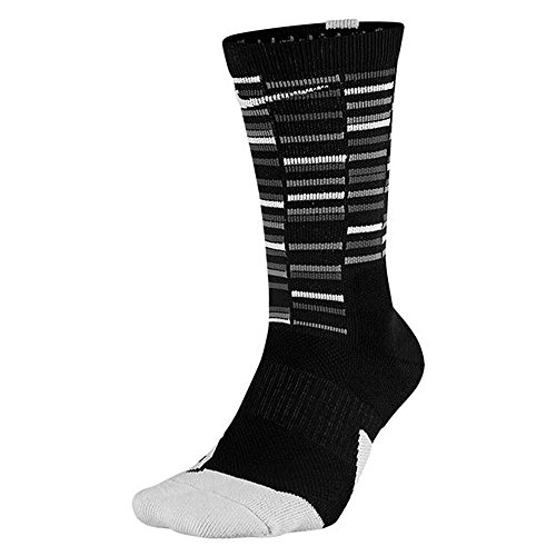 6b3492995 Nike Elite Crew 1.5 GFX2 Basketball Socks Large (Men Size 8-12, Women  10-13) Black,White SX7010-010