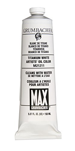 Grumbacher Max Water Miscible Oil Paint, 150ml/5.07 oz, Titanium ()