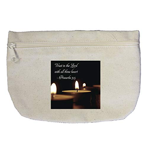 Believe In The Lord With All Thine Heart Cotton Canvas Makeup Bag ()