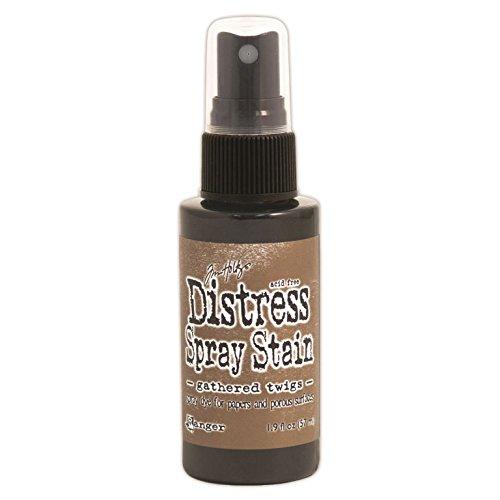 Ranger Tim Holtz Distress Spray Stains Bottles, 1.9-Ounce, Gathered - Monochrome Twigs