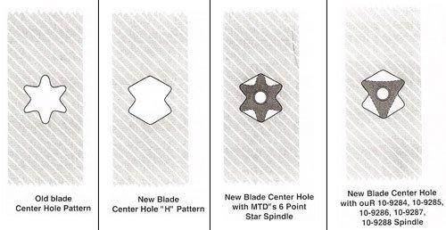 Rotary 12809 PK3 Blades for Cub Cadet 742-04053, 742-04053A, 942-04053-X, 942-04053A, 50