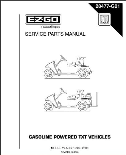 Amazon.com : EZGO 28477G01 1998-2000 Service Parts Manual for Gas TXT Golf  Car : Golf Carts : Garden & OutdoorAmazon.com