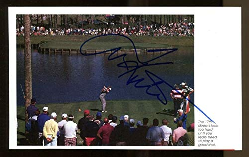 (Tom Kite Signed Photo Book Page 5x7 Autographed PGA Golf 36224)