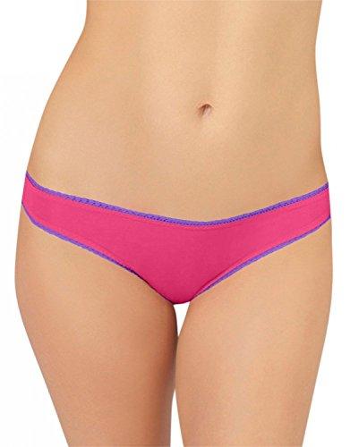 OnGossamer Women's Mesh Low-Rise Hip G-Thong Panty - 3522 (L/XL, Pink (Ongossamer Hip G Mesh Thong)