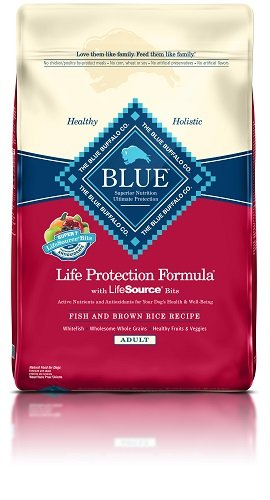 Blue Buffalo Life Protection Dry Adult Dog Food Fish & Brown Rice Recipe 15 LB