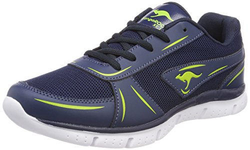 KangaROOS Damen K-Reg Sneaker Blau (Dk Navy/Lime)