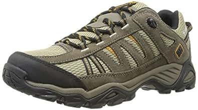 Columbia Men's North Plains Waterproof Hiking Shoe, Verdant/Caramel, 14 M US