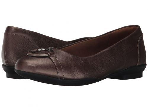Clarks(クラークス) レディース 女性用 シューズ 靴 フラット Neenah Vine Pewter Leather [並行輸入品] B07BPP8MKW 8 B Medium
