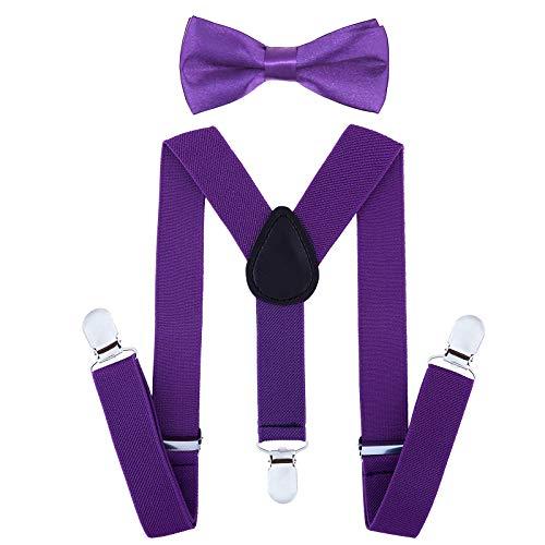 Child Kids Suspenders Bowtie Set...