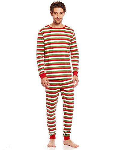 ite & Green Striped Pajama Large (Man Striped Pajamas)