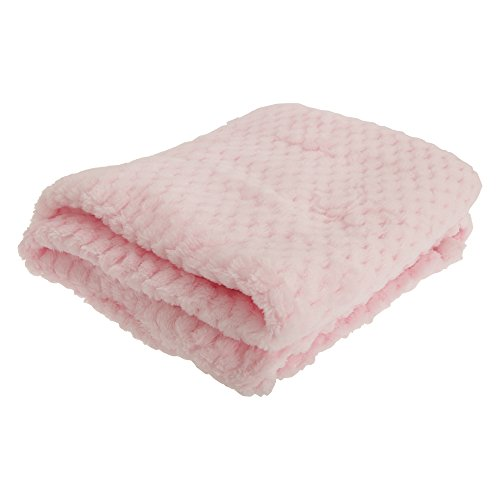 (Baby Boys/Girls Supersoft Waffle Textured Blanket (29.5 x 35.4in) (Pink))