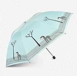SBBCW Peso Paraguas Plegable De Protección De Viaje Calidad De La Cortina Del Sol UV Paraguas Compacto