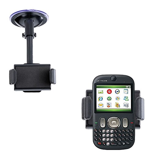Gomadic Brand Ultra Compact Flexible Car Auto Windshield Holder Mount designed for the HTC Iris - Gooseneck Suction Cup Style Cradle