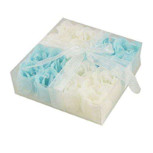 Regalo del petalo della Rosa eDealMax Baby Blue Bianco 16 Pz bagno profumato sapone