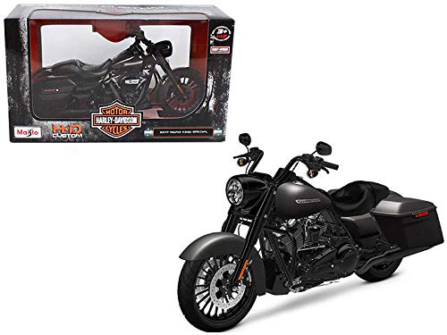 (Maisto 2017 Harley Davidson King Road Special Black Motorcycle Model 1/12 32336 Toy )