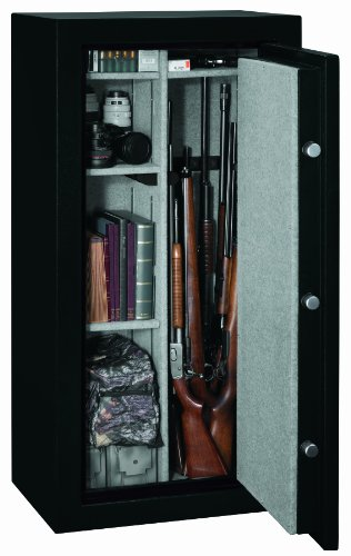 Stack-On FS-24-MB-E 24-Gun Fire Resistant Safe with Electronic Lock, Matte Black by Stack-On (Image #1)