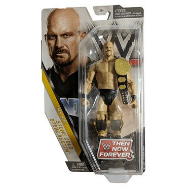 WWE Basic Series Then Now Forever Stone Cold Steve Austin Exclusive Action Figure (with World Heavyweight Championship Belt) (Stone Cold Action Figure)