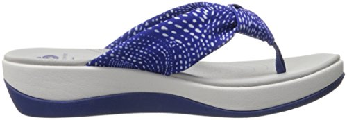 Glison White Blue Flip Clarks Dots Women's Flops Fabric Arla wxCqC6FYE