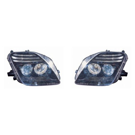 Depo M17-1103P-AS2 Honda Prelude Black Headlight Projector Assembly