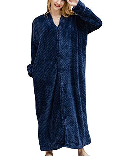 per Pigiama Morbido Uomo Donna notte Unisex Sleepwear d'onore leggero e Navy Donne e Accappatoio corallo Pigiama da Pile Accappatoio di Lungo Robe damigella dwxAtq7dY