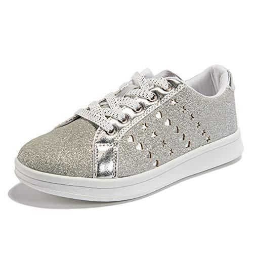 Weestep Toddler Little Kid Girl Classic Street Sneaker (12 M US Little Kid, Glitter Grey)]()