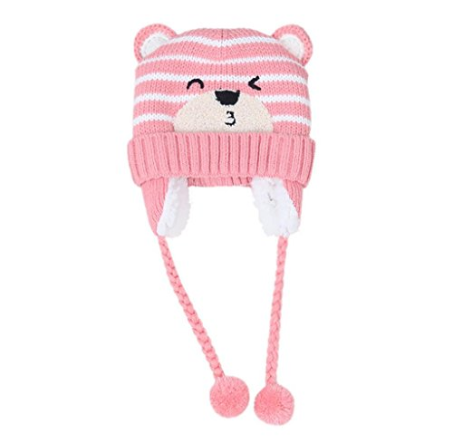 Gloous Baby Boys Girls Beanie Pocket Cotton Hat Children Print Knitting Hats (E)