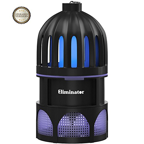 Eliminator Powerful Indoor Mosquito and Fly Trap with Bright LED UV Light Attracter and Fan/Get Rid of All Mosquitoes and Flies – Mosquito Catcher Killer for Residential & Commercial Use [UPGRADED]