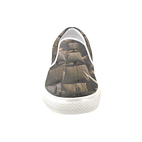 D-story Custom Sneaker Barca A Vela Donne Insolite Scarpe Di Tela Slip-on