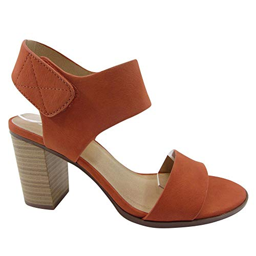 (SODA Topshoeave Wait Womens Open Toe Chunky Heel Ankle Strap Shoes Block High Heel Dress Sandals (8.5 M US, Orange Nbpu))