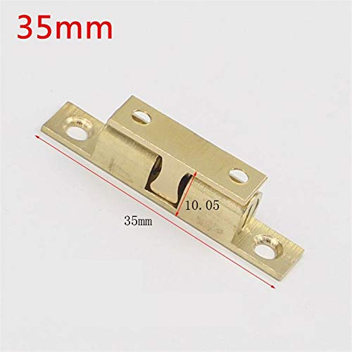 10pcs 35mm Pure Copper Touch Beads Cabinet Door Catches Bronze Brass Color Double Ball Latch Clip Lock Furniture Accessories