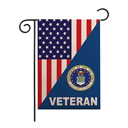 12 x 18 Inches Seasonal Garden Flag Star Spangled Banner Veteran Department of the Air Force US Flag Double Sided Vibrant Printing on Both Sides Decorative House Yard Flag Garden Outdoor Decoration ()