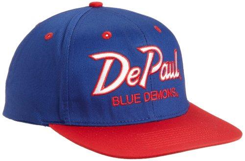 Eclipse Specialties NCAA DePaul Blue Demons Script College Snap Back Team Hat, Blue, One Size