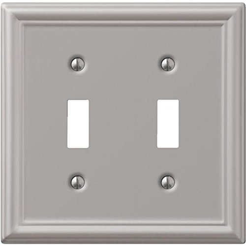 Creative Accents Wall Plate Brushed Nickel Chelsea 2 Toggle Carded (Creative Accents Wall Plate)