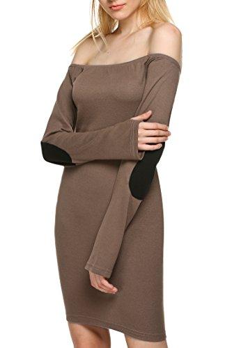 Zeagoo Womens Sleeve Shoulder Bodycon