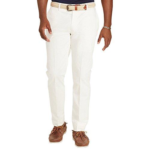 RALPH LAUREN Polo Men's Classic Fit Flat Front Stretch Twill Pants (32x34, Nevis) (Ralph Lauren White Pants)