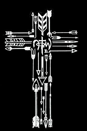 NOTW, Arrows in Cross Window Decal, White, 5 3/4 x 3 3/4 inches - Notw Window Stickers