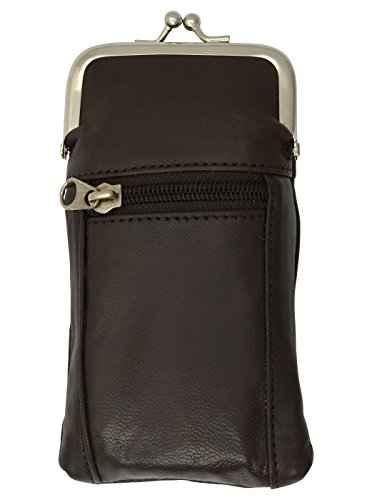 eather Cigarette Case and zipped Lighter pouch by Marshal (Brown) (Leather Zipped Pouch)
