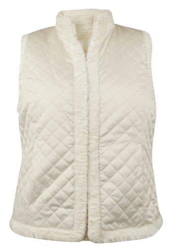 (Ralph Lauren Women's Reversible Mixed-Media Vest-XL)