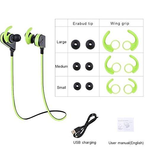 Auriculares Bluetooth 4.2 magnéticos con micrófono Deporte inalámbrico estéreo Genai: Amazon.es: Electrónica