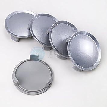 5x Embellecedores tapa tapacubos 75,0 -64 , 0 mm plata Pintado: Amazon.es: Coche y moto