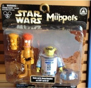 Disney (Disney) Park Star Wars (Star Wars) Muppets Beaker & Dr. Bunsen Honeydew as C-3PO & R2-D PVC figure s (parallel import) (Muppets Dr Bunsen Honeydew)