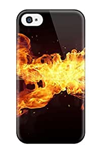 Iphone 4/4s Case Cover Skin : Premium High Quality Fire-guitar Case