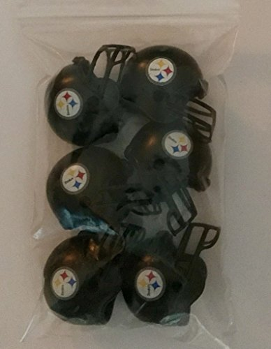 6 Pack Pittsburgh Steelers 2017 NFL Helmet Mini
