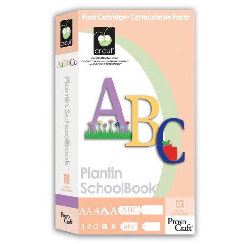 Plantin Schoolbook Cricut Cartridge