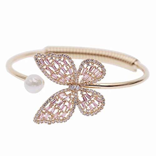 [해외]LOSOUL Adjustable Butterfly Bracelet Open Adjustable Bangle Bracelets Stackable Bangle for Women / LOSOUL Adjustable Butterfly Bracelet Open Adjustable Bangle Bracelets Stackable Bangle for Women