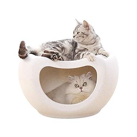 Moontay Gato caseta Universal semicerrado Verano Gato Cama casa Villa Perrera Perrera Verano Gato caseta: Amazon.es: Productos para mascotas